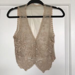 Urban outfitters lace vest